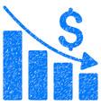 recession grunge icon vector image vector image