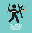 Riot Police Holding A Shield vector image vector image