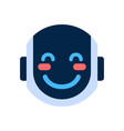 robot face icon smiling blushed face emotion vector image vector image