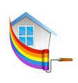 roller for painting the house vector image vector image