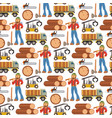 sawmill woodcutter character logging equipment vector image vector image