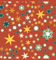 seamless texture vintage red stylized flowers and vector image