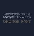 set grunge stencil letters vector image