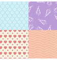 Set of simple seamless texture vector image
