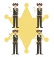 set sheriffs vector image