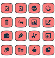 set simple financial icons vector image