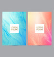 soft card template with light fluid wave texture vector image