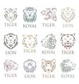 Tiger face head silhouette logo vector image vector image