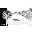 Winter tree background vector image vector image