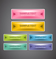 Glossy Web Buttons vector image