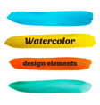 Hand drawn stripes Watercolor design elements vector image