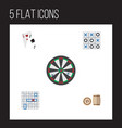 flat icon entertainment set of lottery xo ace vector image