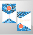abstract brochure or flyer design template vector image