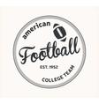 American Football logo vector image