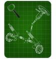 3d model of steering column vector image vector image
