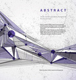 abstract geometric background modern style vector image