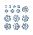 abstract snowflakes element set in line style vector image