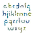 acrylic alphabet letters set hand-drawn colorful vector image vector image