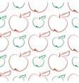 Apples abstract seamless pattern vector image vector image