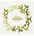 Bamboo decorative frame vector image