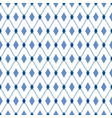 blue diamonds seamless pattern male trendy vector image