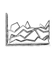 blurred silhouette of statistical graphs in shape vector image vector image