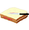 bread and jam vector image
