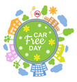 car free day concept vector image vector image
