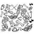 cartoon characters seamless pattern vector image vector image