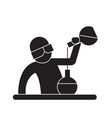 chemist at work black concept icon chemist vector image vector image