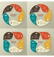 Circle retro old infographic cycle diagram vector image