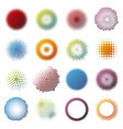 colorful halftone design round elements collection vector image vector image