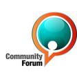community forum vector image vector image