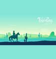 cowboy riding a horse concept horse vector image vector image