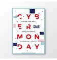 Cyber Monday Modern Typography Swiss Style Poster vector image