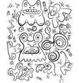 Doodle monsters vector image vector image