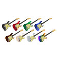 electric guitar collection vector image vector image