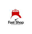 fast shop logo template vector image vector image