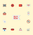flat icons payment shop buy now and other vector image vector image