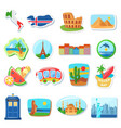 fridge magnets flat abroad vector image vector image