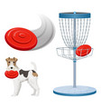 frisbee golf game color set vector image vector image