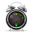 fuel indicator in creative retro alarm clock vector image vector image