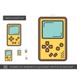 Game console line icon vector image vector image