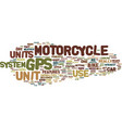 gps motorcycle units for ease of travel text vector image vector image