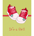 greeting baby card with shoes