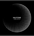 halftone circle frame with white dots vector image vector image