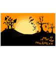 halloween landscape at night vector image