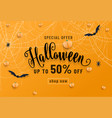 halloween sale banner party invitation concept vector image