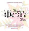 happy womens day card with light background vector image vector image
