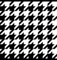 houndstooth seamless pattern basic and classic vector image vector image